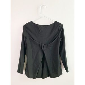 COS Black Wool Bow Back Woven Tunic